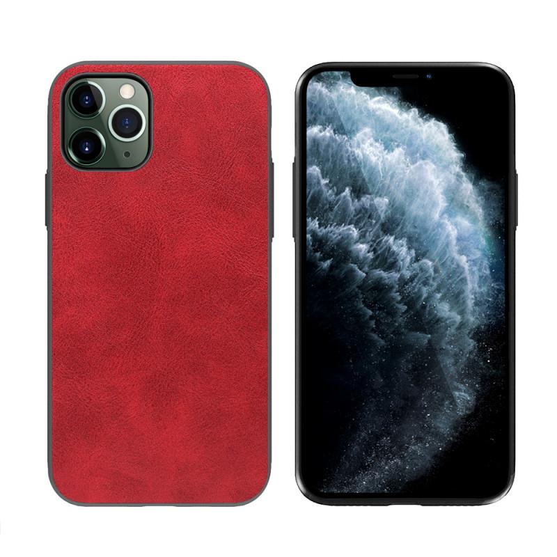 Чехол кожаный с силиконовыми бортами красный